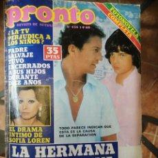 Coleccionismo de Revista Pronto: REVISTA PRONTO - Nº 434 - SOFÍA LOREN - MARI CARMEN - PHILIP JUNOT. Lote 257697900