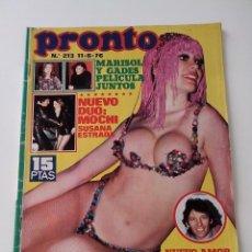 Collectionnisme de Magazine Pronto: REVISTA PRONTO Nº 213 AÑO 1976 SIN POSTER. Lote 257891600