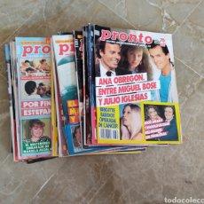 Coleccionismo de Revista Pronto: LOTE X 18 EJEMPLARES REVISTA PRONTO.AÑOS 80 PRINCIPIO 90.. Lote 260314005