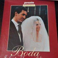 Coleccionismo de Revista Pronto: BODA INFANTA ELENA Y JAIMA DE MARICHALAR. Lote 261117845