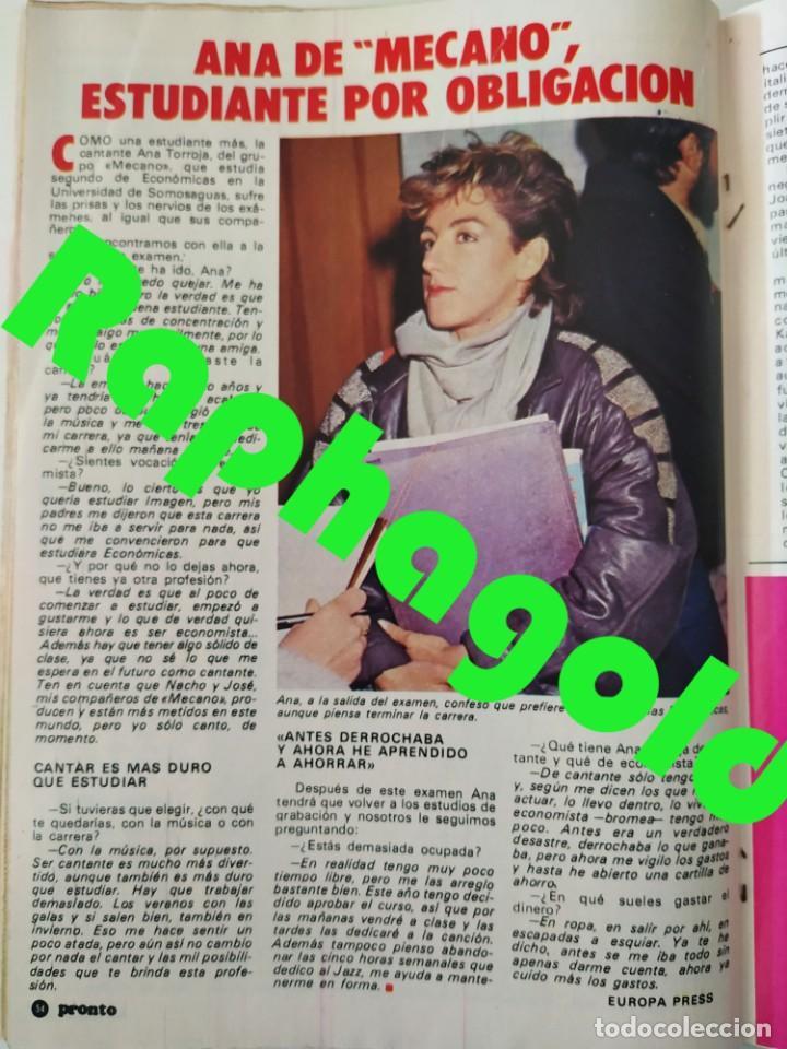 Coleccionismo de Revista Pronto: Revi PRONTO 568 Julio Iglesias Camilo Sesto Massiel Ana Torroja Mecano Sonia Martínez Remedios Amaya - Foto 7 - 261232505