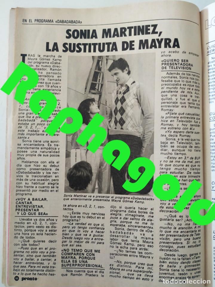 Coleccionismo de Revista Pronto: Revi PRONTO 568 Julio Iglesias Camilo Sesto Massiel Ana Torroja Mecano Sonia Martínez Remedios Amaya - Foto 8 - 261232505