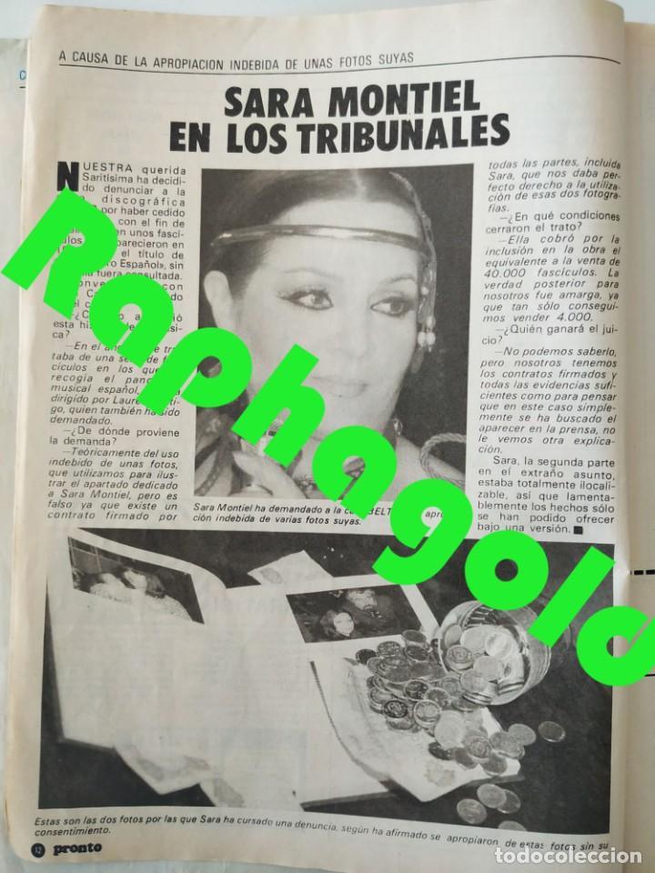 Coleccionismo de Revista Pronto: Revis PRONTO 581 Sara Montiel María Jiménez Marisol Arturo Fernández Alfredo Landa Imperio Argentina - Foto 2 - 261233170