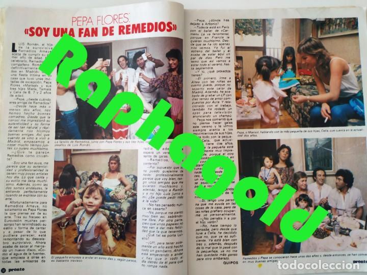Coleccionismo de Revista Pronto: Revis PRONTO 581 Sara Montiel María Jiménez Marisol Arturo Fernández Alfredo Landa Imperio Argentina - Foto 6 - 261233170