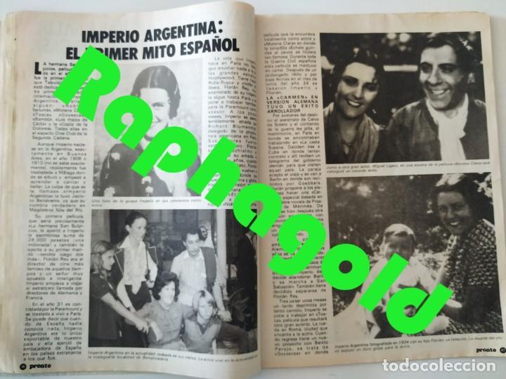 Coleccionismo de Revista Pronto: Revis PRONTO 581 Sara Montiel María Jiménez Marisol Arturo Fernández Alfredo Landa Imperio Argentina - Foto 8 - 261233170