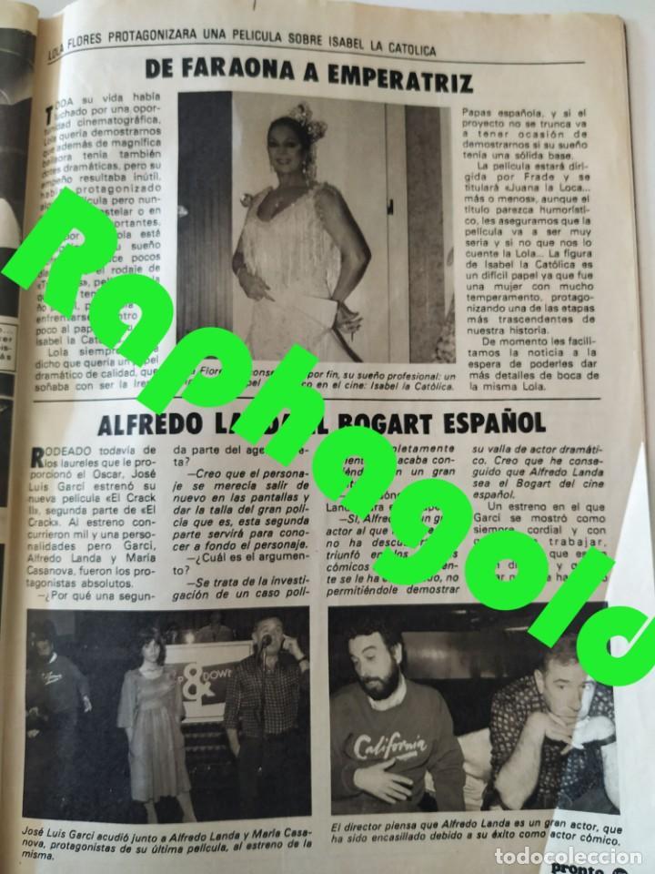 Coleccionismo de Revista Pronto: Revis PRONTO 581 Sara Montiel María Jiménez Marisol Arturo Fernández Alfredo Landa Imperio Argentina - Foto 10 - 261233170
