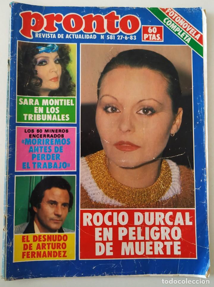 REVIS PRONTO 581 SARA MONTIEL MARÍA JIMÉNEZ MARISOL ARTURO FERNÁNDEZ ALFREDO LANDA IMPERIO ARGENTINA (Papel - Revistas y Periódicos Modernos (a partir de 1.940) - Revista Pronto)