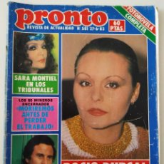 Coleccionismo de Revista Pronto: REVIS PRONTO 581 SARA MONTIEL MARÍA JIMÉNEZ MARISOL ARTURO FERNÁNDEZ ALFREDO LANDA IMPERIO ARGENTINA. Lote 261233170