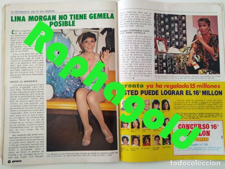 REVISTA PRONTO 610 LINA MORGAN PLÁCIDO DOMINGO NORMA DUVAL GRACE KELLY MILIKI CHANQUETE LIZ TAYLOR (Papel - Revistas y Periódicos Modernos (a partir de 1.940) - Revista Pronto)
