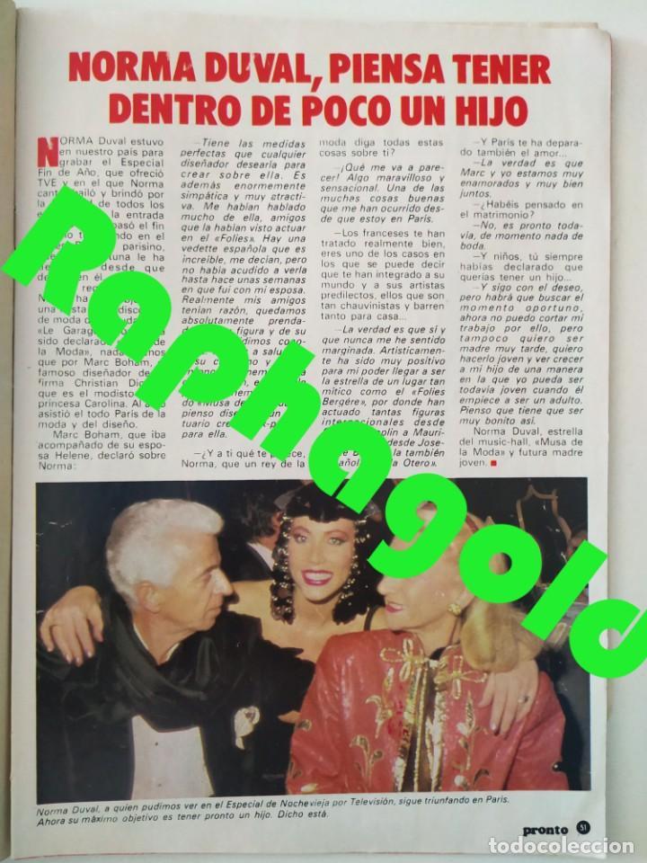 Coleccionismo de Revista Pronto: Revista PRONTO 610 Lina Morgan Plácido Domingo Norma Duval Grace Kelly Miliki Chanquete Liz Taylor - Foto 5 - 261237940