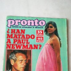 Coleccionismo de Revista Pronto: PRONTO N°458,PAUL NEWMAN. CRUZ SORIANO,SPARGO, 1981. Lote 261619895