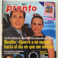 Colecionismo da Revista Pronto: REVIS PRONTO 1424 ROCÍO CARRASCO ANTONIO DAVID MADONNA ISABEL PANTOJA ANA ROSA QUINTANA CARMEN MAURA. Lote 261808830