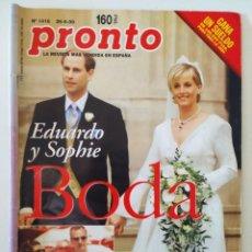 Coleccionismo de Revista Pronto: REVISTA PRONTO 1416 MARIBEL VERDÚ MICHAEL JACKSON ANTONIO FERRANDIS NIÑA DE LA PUEBLA CARMEN SEVILLA. Lote 261809960