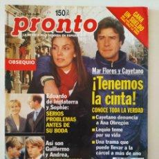 Coleccionismo de Revista Pronto: REVIS PRONTO 1402 MAR FLORES ANA OBREGÓN ILONA STALLER ANTONIO FERRANDIS SILVIA MUNT ISABEL PANTOJA. Lote 261811805