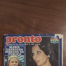 Coleccionismo de Revista Pronto: PRONTO 520 SOPHIA LOREN MIGUEL BOSÉ OLIVIA NEWTON-JOHN LUIS ESCOBAR MARÍA GARRALÓN PRISCILLA PRESLEY. Lote 261847340