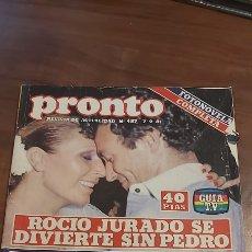 Coleccionismo de Revista Pronto: *REVISTA PRONTO 487* 7-9-81 * ROCIO JURADO / SARA MONTIEL / PAQUIRRI ISABEL PANTOJA / 20. Lote 261848150