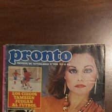 Coleccionismo de Revista Pronto: REVISTA PRONTO Nº 550-ROCIO DURCAL-LOLA FLORES-FERNANDO ESTESO-ANDRÈS PAJARES-MARISOL-BIGOTE ARROCET. Lote 261890605