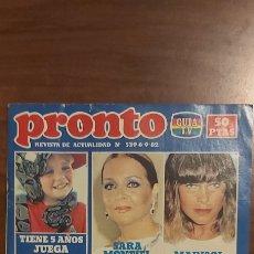 Coleccionismo de Revista Pronto: REVISTA PRONTO Nº 539 VERANO AZUL ROCÍO DÚRCAL SARA MONTIEL BEATLES CHISPITA RAPHAEL MANOLO ESCOBAR. Lote 261890745