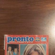 Coleccionismo de Revista Pronto: REVISTA PRONTO Nº 560 CAROLINA DE MONACO MIGUEL BOSE KARINA PIRAÑA VERANO AZUL PARCHIS ROCIO DURCAL. Lote 261891155