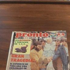 Coleccionismo de Revista Pronto: PRONTO Nº 592 JULIO IGLESIAS RICHARD HATCH COLZA WINDSURFING DURAN DURAN CARMEN CERVERA INUNDACIONES. Lote 261891370
