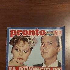 Coleccionismo de Revista Pronto: PRONTO Nº 552 - 6 - 12 1982 - ROCÍO DURCAL Y JUNIOR, LA MUJER MONSTRUO, NORMA DUVAL EN LAS PICARAS. Lote 261891910