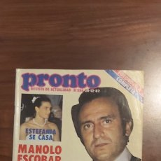 Coleccionismo de Revista Pronto: PRONTO 554 PECOS LOLO GARCIA TITO BERTÍN OSBORNE LINA MORGAN ROCIO JURADO ISABEL PANTOJA ESTEFANIA. Lote 261892270