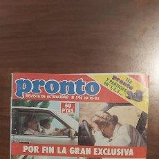 Coleccionismo de Revista Pronto: REVISTA PRONTO Nº 596 10-10-83 LAS FOTOS DEL ACCIDENTE DE GRACE KELLY-LOLITA.-ROCIO JURADO. Lote 261894175
