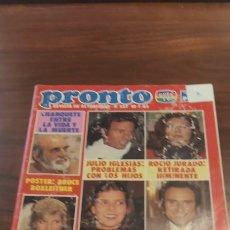 Coleccionismo de Revista Pronto: PRONTO Nº 557 - 10 - 1 - 1983 - MECANO, BONEY M, MARÍA JOSE CANTUDO, JULIO IGLESIAS INCLUYE POSTER. Lote 261896470