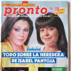 Coleccionismo de Revista Pronto: REVISTA PRONTO 1044 ISABEL PANTOJA LOLITA LOLA FLORES GRECIA COLMENARES SARA MONTIEL CLINT EASTWOOD. Lote 261952990
