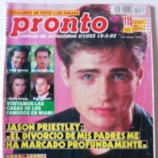 Coleccionismo de Revista Pronto: REVISTA PRONTO 1032 JASON PRIESTLEY POLI DÍAS BARRAGÁN ALFREDO LANDA LYDIA BOSCH JOSÉ CORONADO STING. Lote 261955065