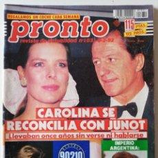 Coleccionismo de Revista Pronto: PRONTO Nº 1031 IMPERIO ARGENTINA MISS ESPAÑA CONCHA VELASCO BRIGITTE NIELSEN SENSACIÓN DE VIVIR RUBÍ. Lote 261955425