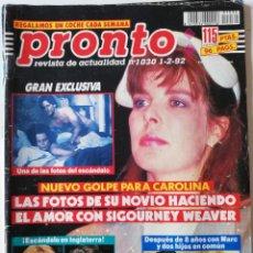Coleccionismo de Revista Pronto: PRONTO Nº 1030 NORMA DUVAL ISABEL PANTOJA MIGUEL DE LA CUADRA SALCEDO MICHAEL JACKSON EL VAQUILLA. Lote 261955965