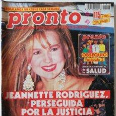 Coleccionismo de Revista Pronto: REVISTA PRONTO Nº 1013 TINO CASAL ANA OBREGÓN JOSELITO MARILYN MONROE ROCÍO JURADO CHABELI IGLESIAS. Lote 261958630