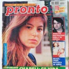 Coleccionismo de Revista Pronto: PRONTO Nº 1011 CHABELI JOSELITO ESTHER ARROYO ROCÍO JURADO PAUL NASCHY ISABEL PANTOJA MARÍA JIMÉNEZ. Lote 261959935