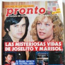 Coleccionismo de Revista Pronto: PRONTO 1010 MARISOL JOSELITO MICHAEL JACKSON ANTONIO BANDERAS CARLOS MATA UN DOS TRES VICTORIA ABRIL. Lote 261960265