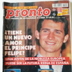 Coleccionismo de Revista Pronto: REVISTA PRONTO Nº 1008 ROCÍO DÚRCAL LINA MORGAN BÁRBARA REY TITA CERVERA ANA OBREGÓN RAPHAEL. Lote 261960680