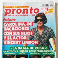 Coleccionismo de Revista Pronto: REVISTA PRONTO 1007 CARLOS MATA JEANNETTE RODRÍGUEZ LA TOYA JACKSON MARTA SÁNCHEZ XUXA VICKY LUSSON. Lote 261961605