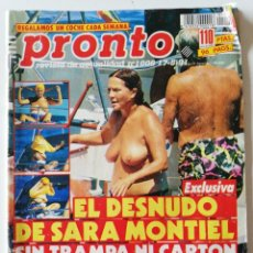 Coleccionismo de Revista Pronto: PRONTO 1006 SARA MONTIEL JEANNETTE RODRÍGUEZ GEORGIE DANN MECANO ANA OBREGÓN ÁNGELA MOLINA MARADONA. Lote 261962000