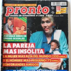 Coleccionismo de Revista Pronto: REVISTA PRONTO Nº 1004 ESTEFANÍA DE MÓNACO VERÓNICA FORQUÉ CONCHA VELASCO BLANCA FERNÁNDEZ OCHOA. Lote 261962370