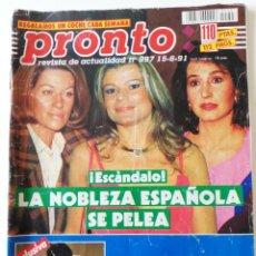 Coleccionismo de Revista Pronto: REVISTA PRONTO Nº 997 FLORINDA CHICO SERGIO DALMA SONIA MARTÍNEZ EL DIONI NORMA DUVAL LYDIA BOSCH. Lote 261963785