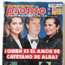 Coleccionismo de Revista Pronto: REVISTA PRONTO Nº 995 SONIA MARTÍNEZ ALASKA ANA OBREGÓN JOSÉ CORONADO MADONNA EMILIO BUTRAGUEÑO. Lote 261965025