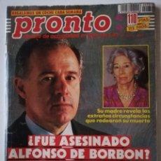 Coleccionismo de Revista Pronto: PRONTO Nº 984 CONCHA VELASCO MARIBEL VERDÚ ANTONIO OZORES ISABEL PANTOJA ANTONIO MOLINA MARADONA. Lote 261969250