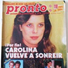 Coleccionismo de Revista Pronto: REVISTA PRONTO 976 MARTA SÁNCHEZ RAQUEL REVUELTA BRIGITTE NIELSEN BEATLES VICENTE PARRA LOLA FLORES. Lote 262035035