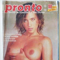 Colecionismo da Revista Pronto: REVISTA PRONTO Nº 902 SABRINA SALERNO JULIO IGLESIAS MADONNA RAPHAEL CAROLINA ESTEFANÍA DE MÓNACO. Lote 262062785