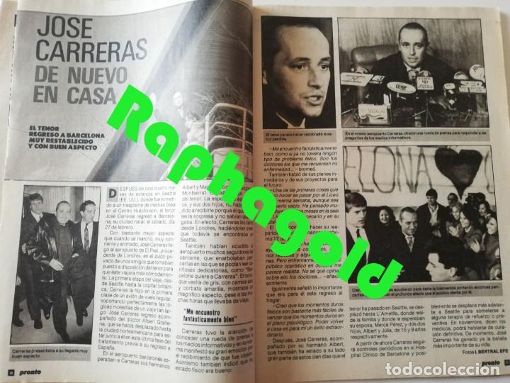 Coleccionismo de Revista Pronto: Revista PRONTO nº 827 Isabel Pantoja Madonna José Carreras Los Colby Betty Missiego Emiliano Revilla - Foto 3 - 262080430