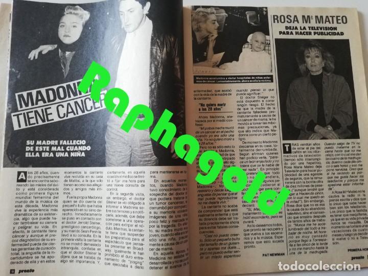 Coleccionismo de Revista Pronto: Revista PRONTO nº 827 Isabel Pantoja Madonna José Carreras Los Colby Betty Missiego Emiliano Revilla - Foto 4 - 262080430