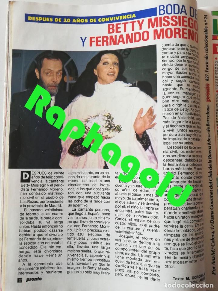 Coleccionismo de Revista Pronto: Revista PRONTO nº 827 Isabel Pantoja Madonna José Carreras Los Colby Betty Missiego Emiliano Revilla - Foto 7 - 262080430