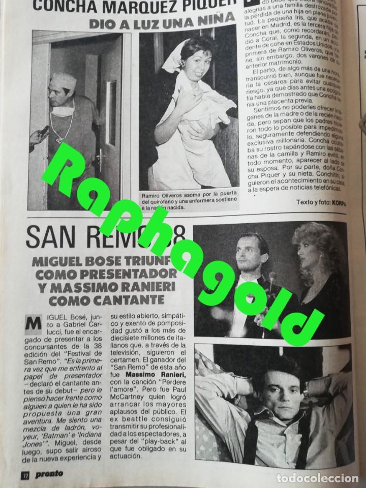 Coleccionismo de Revista Pronto: Revista PRONTO nº 827 Isabel Pantoja Madonna José Carreras Los Colby Betty Missiego Emiliano Revilla - Foto 8 - 262080430