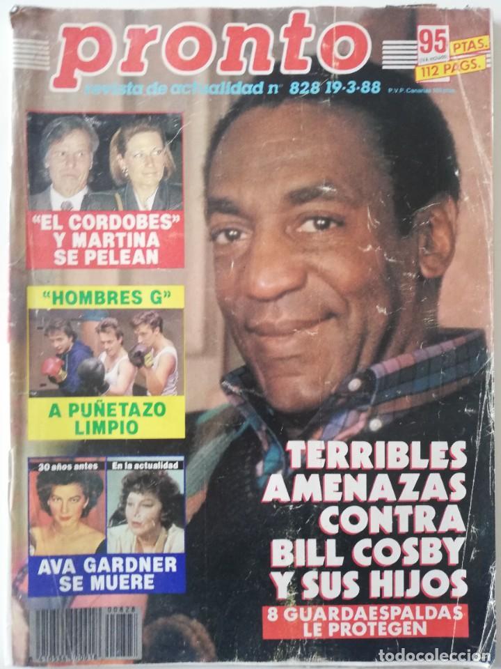 PRONTO Nº 828 BILL COSBY VICENTE PARRA HOMBRES G LINDA EVANS DUQUESA DE ALBA DANUTA LATO SABRINA (Papel - Revistas y Periódicos Modernos (a partir de 1.940) - Revista Pronto)
