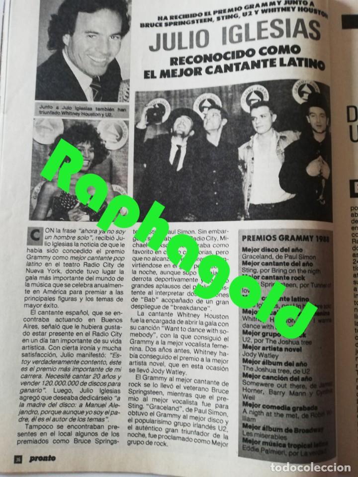 Coleccionismo de Revista Pronto: PRONTO nº 828 Bill Cosby Vicente Parra Hombres G Linda Evans Duquesa de Alba Danuta Lato Sabrina - Foto 6 - 262080960